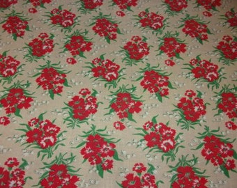 Vintage fabric, floral eyelets / / flowers / / *.
