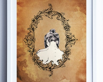 ' Mirror ' illustration. Print. Film in A3, A4 and A5. Art. Illustration. Box.