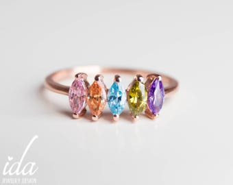 Mothers Day Birthstone - Mothers Jewelry - Mothers Day Gift - Mothers Rings Birthstones - Personalized Gift For Mom - Gift Mom -Grandma Gift