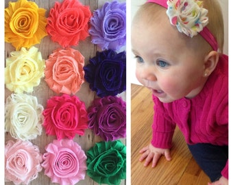 Baby Headband, Baby Girl Headbands, Shabby Chic Headband, Baby Girl, Newborn headband, Baby Shower Gift, Baby hair accessorie, baby hair bow