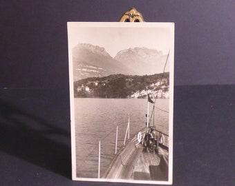 vintage French photo postcard