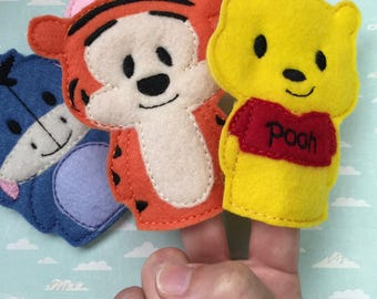 Winnie the Pooh | Finger Puppets | Pretend Play | Kids Toys | Tigger | Felt Toys | Piglet