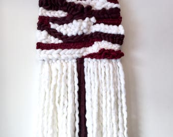 Red and White Wall Hanging / Weaving