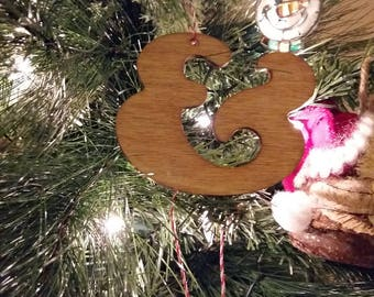 Lasercut Cooper Ampersand Christmas Tree Ornament