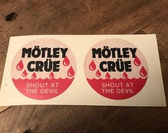 Motley Crue - Rare Shout At The Devil Sticker Set