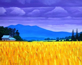 Wheat Fields Near Scravel Hill - Painting