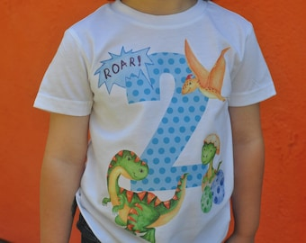 dinosaur shirt, dinosaur birthday, dinosaur toddler shirt, toddler birthday shirt, dino shirt, dinosaur onesie, 2 year old birthday shirt