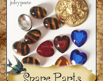 SPARE PARTS•Earring Parts•Necklace Parts•Vintage Components•Set 7