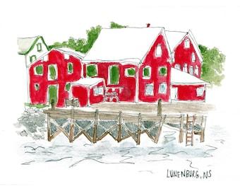 Lunenburg, Nova Scotia (wharf)