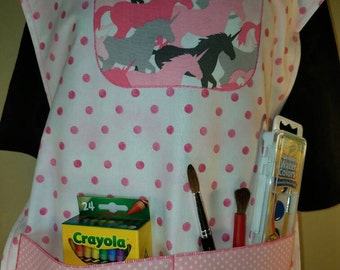 Children's Unicorn Artist Smock Set