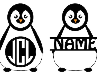 Personalized Glossy Vinyl Decal, Penguin