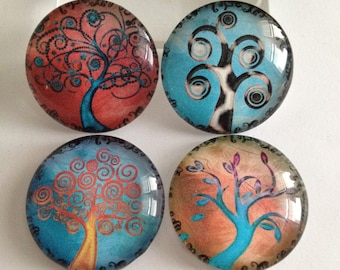 Tree of life magnets, Tree magnets, Magnet Gift Set, Nature magnets, Kitchen magnets, Cubicle decor, Teacher gift, Office supplies, Gifts