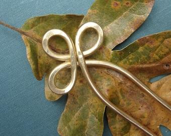 Trinity Loop Brass Metal  Hair Fork, Shawl Pin - Hair Accessories, Hair Sticks, Hair Comb, Bun Holder, Women, Fashion Accessories