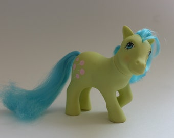 My Little Pony Earth Pony Tootsie G1 Gen Generation 1 MLP Green Teal Blue Aqua Ponies