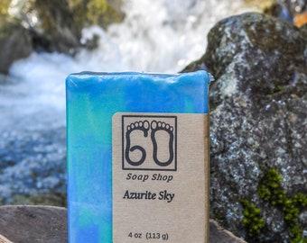 Azurite sky cold process soap!
