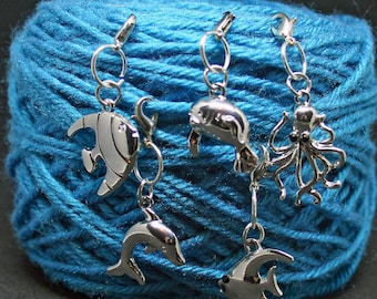 Under the Sea Crochet/Knitting Stitch Markers - Set of 5