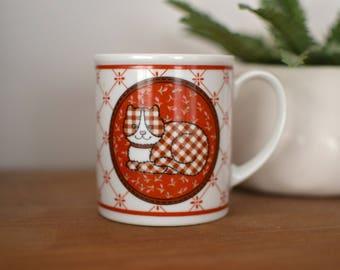Plaid Cat Mug
