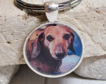 Pet memorial key ring, personalized pet charm, dog key ring, cat key ring, pet memorial gift, custom pet gift, animal lovers gift, pet gift