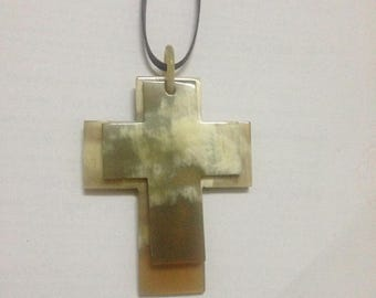 The cross Pendants Necklace, Horn Pendants Necklace, Necklaces Jewelry, Adjustable Straps  VCP050