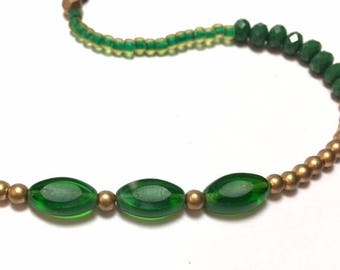 Packers Fan Green and Gold Necklace