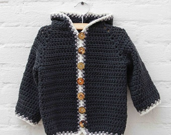 Crochet pattern Hooded Baby Jacket