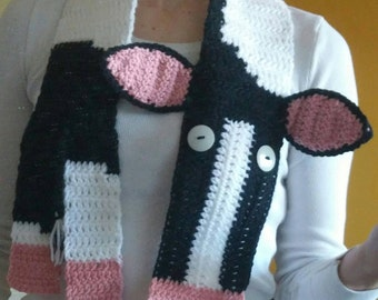 Handmade to Order Cow Scarf