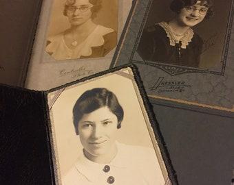 Antique/Instant Family Portraits - Cabinet Photo Bundle - Dapper Ladies