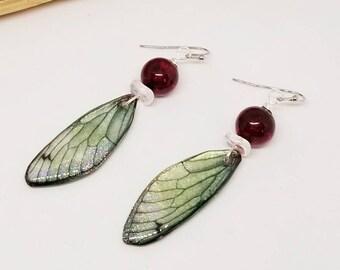 Blue Fairy Dragonfly Earrings - Blue Earrings - Fairy Earrings - Dragonfly Earrings - Gifts for Her