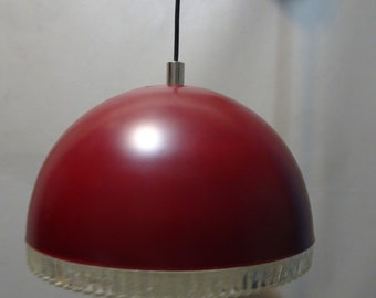 Red Pendant lamp-1970s