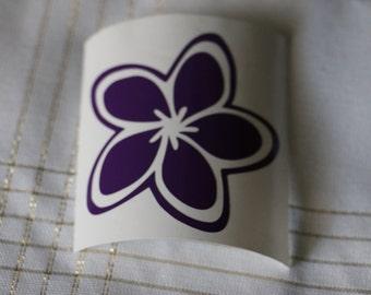 Plumeria Flower Vinyl Decal