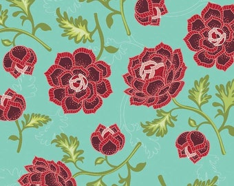 Riley Blake Designs La Vie Boheme Main Teal Fabric  - 1 yard