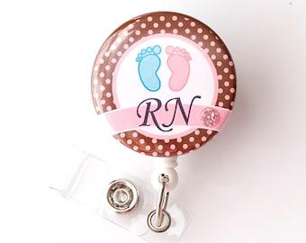 mother baby nurse gifts nicu badge reel cute id holders ld name badge clips unique badge pull rn nurse gifts badgeblooms