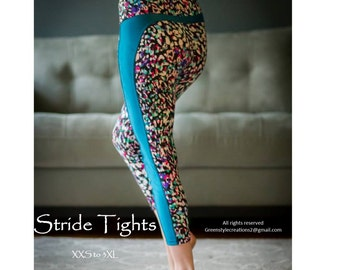 GreenStyle Stride Athletic Tights PDF Sewing Pattern XXS to 3XL