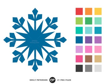 50% OFF SALE! Snowflake Clip Art, Winter Clipart, Silhouette Clip Art - Commercial Use, Instant Download - V2