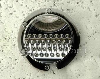 Typewriter purse hanger, tabletop purse hanger, purse hanger, purse hook, typewriter purse hook, purse hanger, gift for writer HG148PH