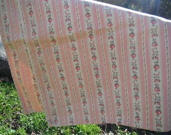 Vintage Pink Floral Feedsack Material - Pillowcase