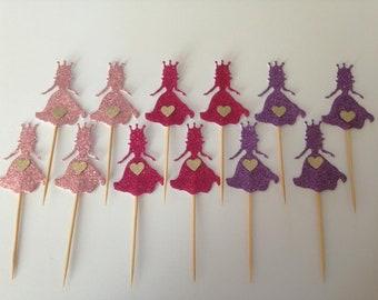 Set of 12 Princess cupcake toppers