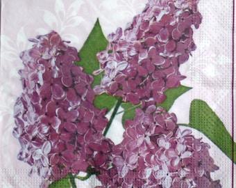 Decoupage paper napkins Decoupage paper Napkin for decoupage lilac