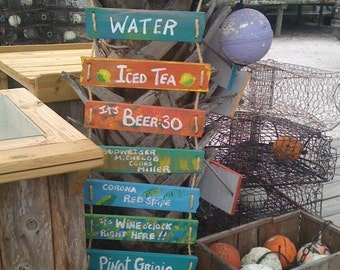 BIG Rope Ladder Sign, Customize and Personalize as you want, 10 sayings arrives ready to hang