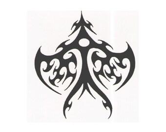 Tribal designer temporary tattoo design - 2x2 inch