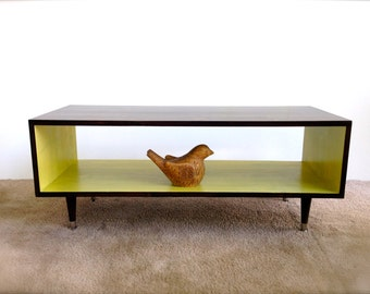 FREE Shipping The Panola: Coffee Table Mid Century Modern Apple GREEN And  Espresso Brown Coffee