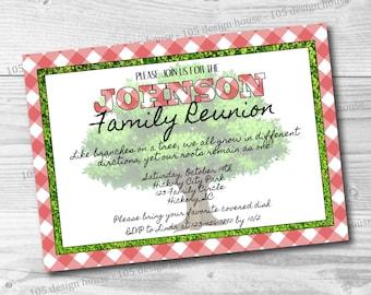 Family Reunion Invitation Printable -  Family Reunion Invite - Picnic Invitation - Customizable for any type of party
