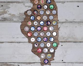 State of Illinois Bottle Cap Holder