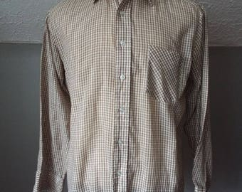 Vintage Long Sleeve Button Down Striped Shirt by Sears Kings Road