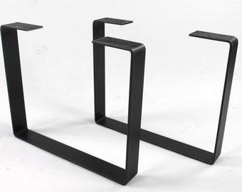 Set of 2 heavy duty bench legs steel legs industrial table set of 2 heavy duty steel legs coffee table legs industrial table legs watchthetrailerfo