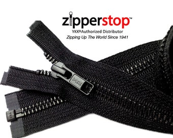 4 Inch to 36 Inch Jacket Zippers YKK Number 5 Black Oxidized – Separating Color Black~Pick Ür length~ZipperStop Wholesale  YKK®