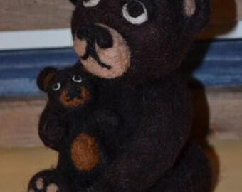 Needle felted  teddy bear :o)