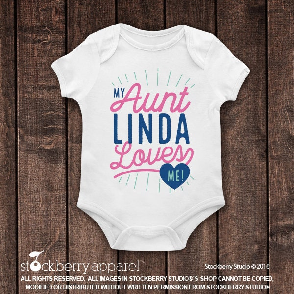 My aunt loves me shirt my auntie loves me custom baby clothes my aunt loves me shirt my auntie loves me custom baby clothes personalized baby gift boy baby shower gift girl baby clothes name negle Images