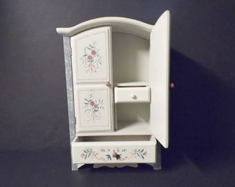 Shabby Chic Table Top Jewelry Armoire
