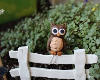 Miniature Owl ~ Polymer clay